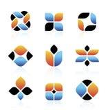 Vektorabstrakte Symbole Stockfoto