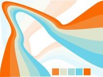 Vektorabstrakte wellenförmige Hintergrundauslegung Stockbild