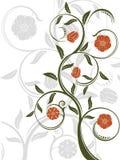 Vektorabstrakter Blumenhintergrund Lizenzfreies Stockbild