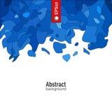 Vektorabstrakter Hintergrund Schablone für Unternehmensidentitä5, Werbung, Plakat, Ereignis in der blauen Farbe Stockbild