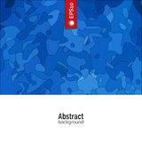 Vektorabstrakter Hintergrund Schablone für Unternehmensidentitä5, Werbung, Plakat, Ereignis in der blauen Farbe Lizenzfreies Stockbild