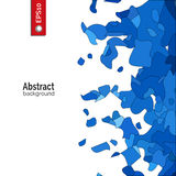 Vektorabstrakter Hintergrund Schablone für Unternehmensidentitä5, Werbung, Plakat, Ereignis in der blauen Farbe Lizenzfreie Stockbilder