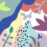 Vektorabstrakter künstlerischer Blumentitelhintergrund Stockfoto