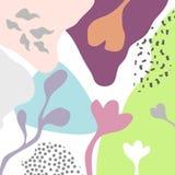 Vektorabstrakter künstlerischer Blumentitelhintergrund Lizenzfreies Stockfoto