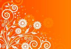 Vektorabstrakter mit Blumenhintergrund Stockfoto