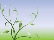 Vektorabstrakter mit Blumenhintergrund Lizenzfreies Stockbild