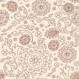 Vektorabstraktes Blumenmuster Lizenzfreies Stockbild