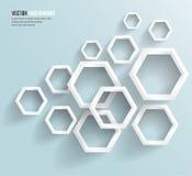 Vektorabstraktes Hintergrund Hexagon. Netz und Entwurf Stockbild