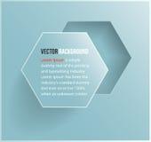 Vektorabstraktes Hintergrund Hexagon. Netz und Entwurf Lizenzfreies Stockbild