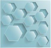 Vektorabstraktes Hintergrund Hexagon. Netz und Entwurf Stockfotografie