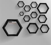 Vektorabstraktes Hintergrund Hexagon. Netz und Entwurf Stockfoto