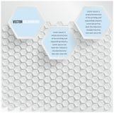 Vektorabstraktes Hintergrund Hexagon. Netz und Entwurf Lizenzfreie Stockfotografie