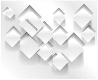 Vektorabstraktes Hintergrundquadrat. Netz-Entwurf Lizenzfreie Stockfotos