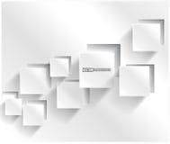 Vektorabstraktes Hintergrundquadrat. Netz-Entwurf Stockbilder