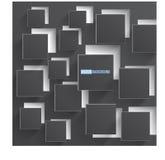 Vektorabstraktes Hintergrundquadrat. grau Lizenzfreie Stockbilder