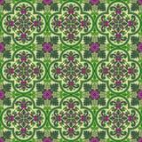 Vektorabstraktes nahtloses mittelalterliches Muster Stockfoto