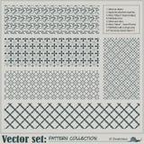 Vektorabstraktes nahtloses Muster Stockfotografie