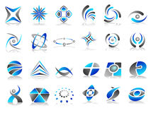 Vektorabstraktes Zeichen-Ikonen-Auslegung-Set Stockbild