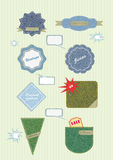 Vektorabzeichen und -kennsätze Stockbilder