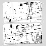 Vektoraffär-kort uppsättning för din design Arkivfoto