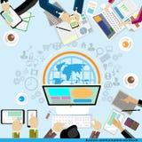 Vektoraffärskommunikation över hela världen Arkivfoto