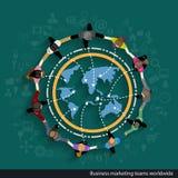Vektoraffärsmarknadsföringen teams över hela världen Fotografering för Bildbyråer
