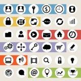 Vektoraffärssymbol med kommunikation Royaltyfri Fotografi
