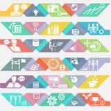 Vektoraffärssymboler med malldesign Arkivfoto