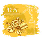 Vektoraffisch av pasta för italiensk kokkonst vektor illustrationer
