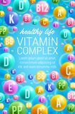 Vektoraffisch av vitaminer och multivitamins Fotografering för Bildbyråer