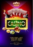 Vektoraffisch för kasinonatt Royaltyfri Bild