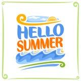 Vektoraffisch för sommar Arkivbilder