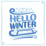 Vektoraffisch för vinter Royaltyfria Bilder
