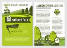 Vektoraffischer för trädgårdsarkitekturföretag stock illustrationer