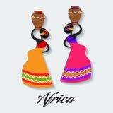 Vektorafrica kvinna Royaltyfri Bild