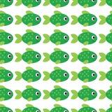 Vektorakvariefiskillustration Plan akvariefisk för färgrik tecknad film för din design Den sömlösa fiskmodellen för behandla som  vektor illustrationer