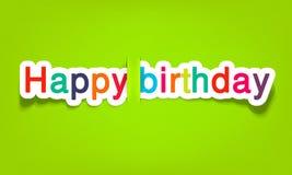 Vektoralles Gute zum Geburtstag Stockfotografie