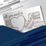 Vektorallt kortet med inskriften som du behöver, är förälskelse Fotografering för Bildbyråer