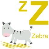 Vektoralphabet mit Tieren z Lizenzfreies Stockfoto