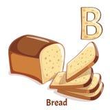 Vektoralphabetbuchstabe B Brot Stockfoto