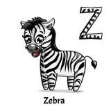 Vektoralphabetbuchstabe Z Zebra Stockfoto