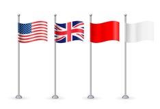 Vektoramerikan med den England flaggan Arkivfoto