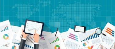 Vektoranlagengeschäft und Finanzfahnenkonzept Stockfotos