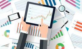 Vektoranlagengeschäft und Finanzkonzept Stockfotos