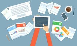 Vektoranlagengeschäftplanung auf Gerättechnologie Stockfotos