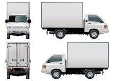 Vektoranlieferung/Ladung-LKW Lizenzfreie Stockbilder