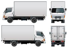 Vektoranlieferung/Ladung-LKW Stockbilder