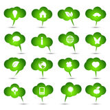 Vektoransammlung ökologische Luftblasen Stockfotos