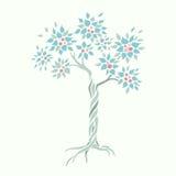 VektorApple träd Royaltyfri Foto