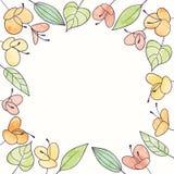 Vektoraquarell-Blumenrahmen Blumenillustration des Handabgehobenen betrages Lizenzfreie Stockfotografie